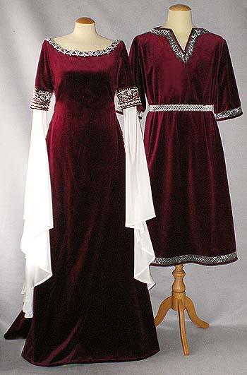 kleid in silbergrau