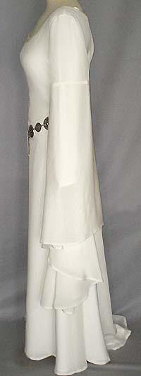 Mittelalter-Brautkleid aus Seide