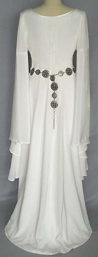 Mittelalter Brautkleid aus Seide